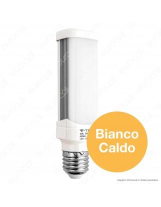 V-Tac VT-1926 Lampadina LED E27 6W Tower PL Horizontal Light - SKU 4373 / 4115 / 4116