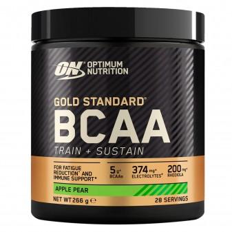 Optimum Nutrition Gold Standard BCAA Train Sustain Aminoacidi Ramificati in Polvere Gusto Mela e Pera - Barattolo 266g