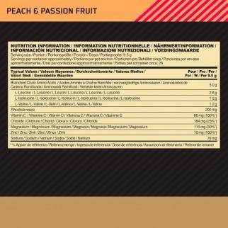 Optimum Nutrition Gold Standard BCAA Train Sustain Aminoacidi Ramificati in Polvere Gusto Pesca e Passion Fruit - Barattolo 266g