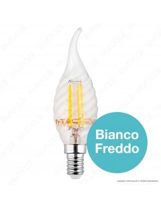 V-Tac VT-1995 Lampadina LED E14 4W Candela Fiamma Twist Filamento - SKU 4308 / 4431 / 4432