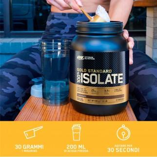 Optimum Nutrition Gold Standard 100% Whey Proteine Isolate in Polvere con Aminoacidi Gusto Vaniglia - Barattolo da 930g