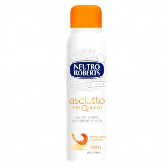 Neutro Roberts Asciutto Zero Alcol Deodorante Profumo Legno Cedro e Vaniglia - Flacone da 150ml