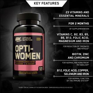 Optimum Nutrition Opti Women Multivitaminico per Donna in Capsule con Minerali ed Estratti Botanici - Barattolo da 120 Capsule