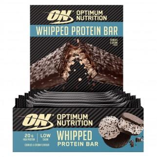 Optimum Nutrition Whipped Protein Bar Barretta Proteica ai Biscotti e Panna - Confezione da 10 Barrette da 62g