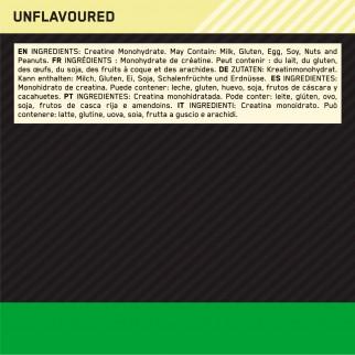 Optimum Nutrition Micronised Creatine Creatina Monoidrato in Polvere Non Aromatizzato - Barattolo da 317g