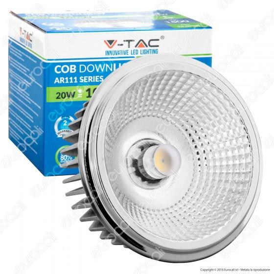 V-Tac VT-1120 Lampadina LED AR111 20W Faretto da Incasso con Driver - SKU 1246 / 1247 / 1248