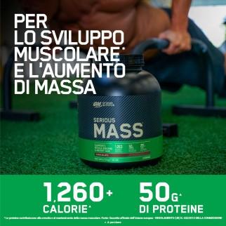 Optimum Nutrition Serious Mass Proteine Whey in Polvere per Sviluppo Muscolare al Cioccolato con Shaker - Barattolo da 2,73Kg