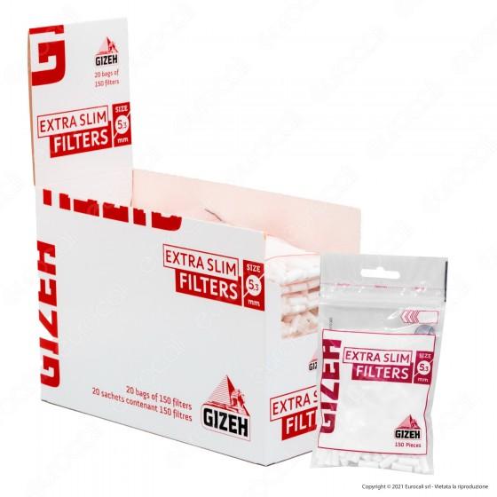 PROV-C00152008 - Gizeh Extra Slim 5,3mm - Box 20 Bustine da 150 Filtri