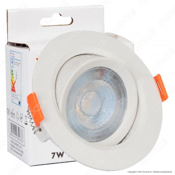 V-Tac VT-8407 Faretto LED da Incasso Rotondo 7W SMD - SKU 7610 / 7611 / 7612