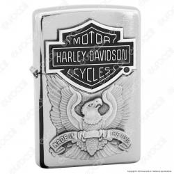 Accendino Zippo Mod. 200HD-H284 Harley-Davidson® Placca - Ricaricabile Antivento