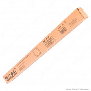 V-Tac Supporto Bianco in Plastica per Montaggio Esterno Pannelli LED 60x60 - SKU 6627