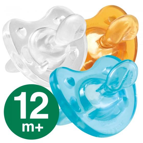Chicco Gommotto in Silicone o Caucciù 12 mesi + Physio Soft - Colore a Scelta