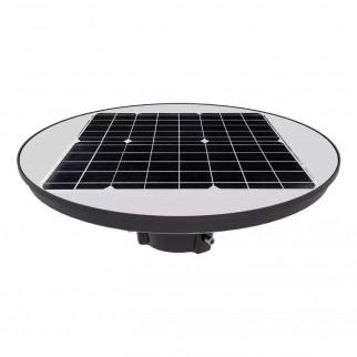 V-Tac VT-45W Lampione LED da Giardino con Pannello Solare 15W IP65 Sensore di Movimento e Crepuscolare - SKU 5150