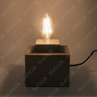 V-TAC VT-7160 Lampada da Tavolo con Portalampada per Lampadine E27 Base in Cemento - SKU 3851