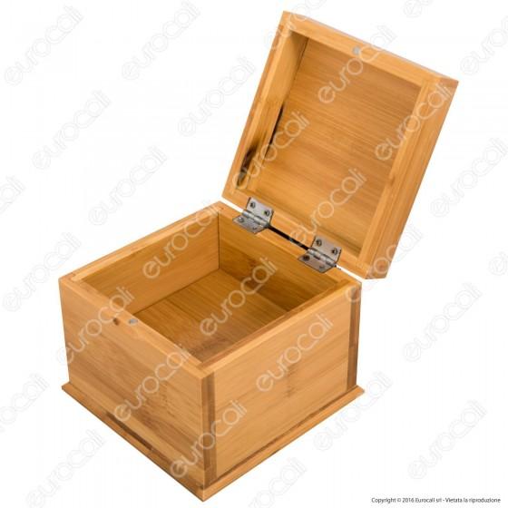 Storage Box Small Scatola Portatutto con Doppio Fondo in Bamboo