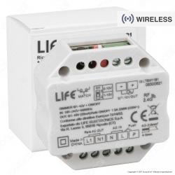 Life Ricevitore Dimmer RF 2,4GHz per Lampade Dimmerabili Compatibile con Telecomando e Pulsanti Cablati - mod. 16.LT5W11B1