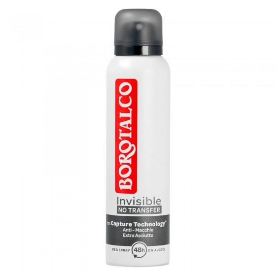 Borotalco Deodorante Invisible Spray con Microtalco Anti Macchie - Flacone da 150ml