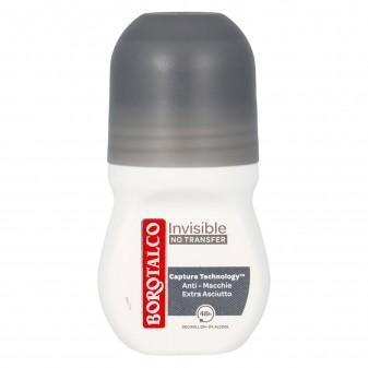 Borotalco Deodorante Invisible Roll-On con Microtalco Anti Macchie - Flacone da 50ml