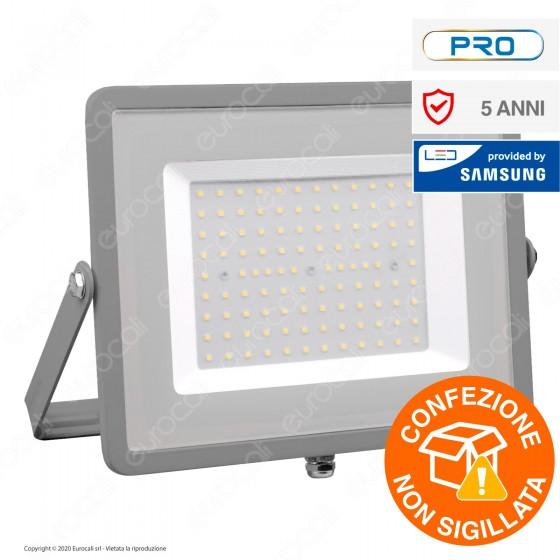 V-Tac PRO VT-100 Faro LED SMD 100W Ultrasottile Chip Samsung da Esterno Colore Grigio - SKU 472