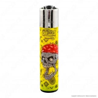 Clipper Large Fantasia Danger Skulls 1 - Box da 48 Accendini