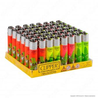Clipper Micro Fantasia Leaf People - Box da 48 Accendini