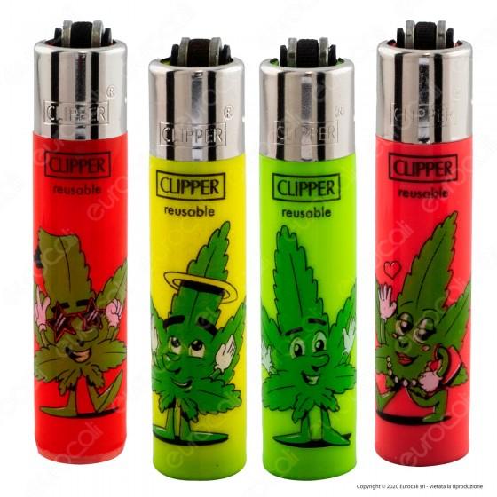 Clipper Micro Fantasia Leaf People - 4 Accendini