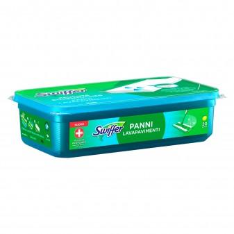 Swiffer Panni Umidi Lavapavimenti Igienizzanti al Limone per Scopa - Confezione da 20 Panni