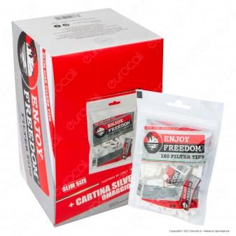 PROV-D00052035 - Enjoy Freedom Slim 6mm - Box da 34 Bustine da 120 Filtri + 50 Cartine Corte