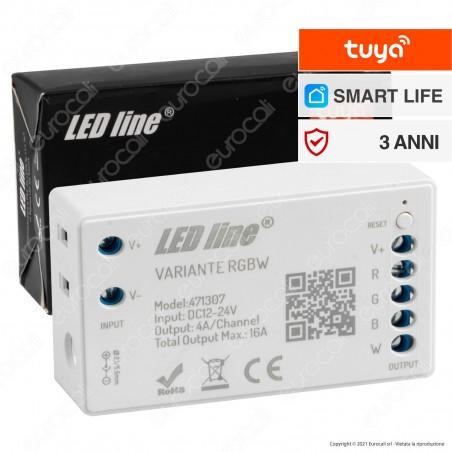LED Line Variante Modulo Controller Dimmer Wi-Fi 2,4 GHz per Strisce LED RGB+W 12V e 24V - mod. 471307