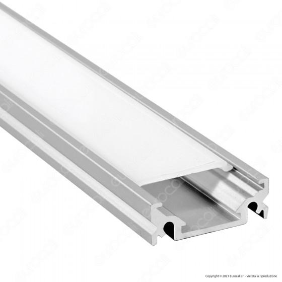 V-Tac Profilo in Alluminio per Strisce LED Lunghezza 1 Metro con Copertura Opaca - SKU 9986