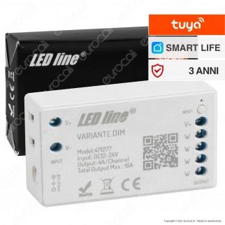 LED Line Variante Modulo Controller Dimmer Wi-Fi 2,4 GHz per Strisce LED Monocolore 12V e 24V - mod. 471277