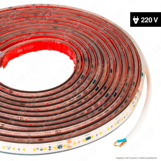LEDCO Striscia LED Monocolore 120 LED/m 220V CRI≥90 16W/m Bobina 10 Metri IP65 - mod. SLP220LBN65/10