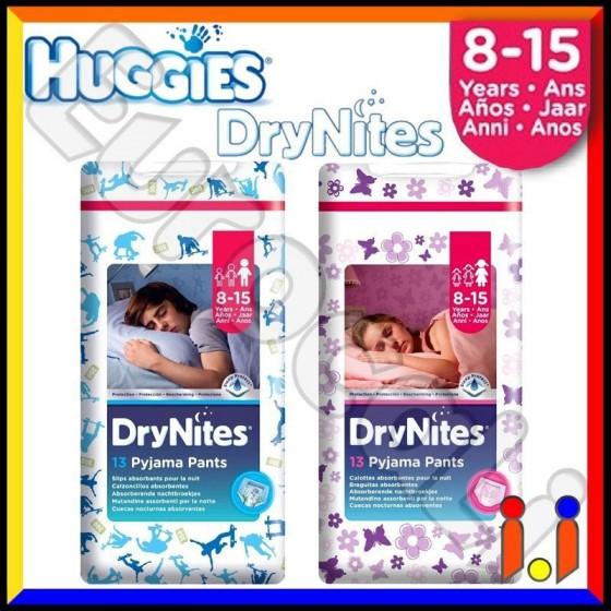 Huggies DryNites Pannolini a Mutandina per la Notte 8/15 Anni (27-57 Kg) Box da 13 Pezzi [TERMINATO]