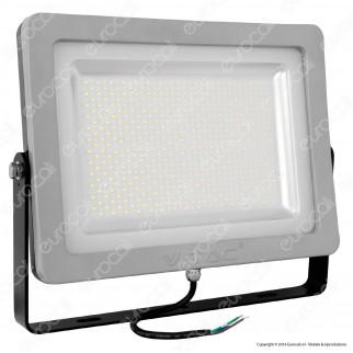 V-Tac VT-48202 Faretto LED SMD 200W Ultra Sottile da Esterno Colore Grigio e Nero
