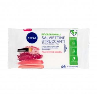Nivea Delicate Salviettine Struccanti Pelli Secche e Sensibili - Confezione da 25 Salviette