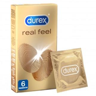 Preservativi Durex Real Feel Anallergici - Scatola 6 pezzi