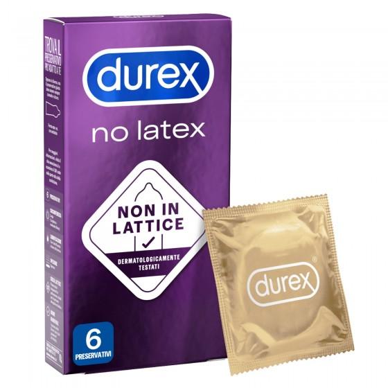 Preservativi Durex No Latex Anallergici - Scatola 6 pezzi