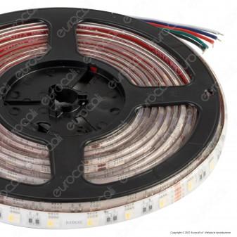 LEDCO Striscia LED RGB+W Multicolore Dimmerabile 60 LED/metro 24V Bobina 10 metri IP65 - mod. SL72RGBW65/LBN