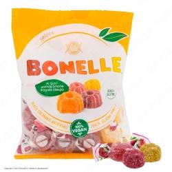Caramelle Bonelle Le Gelées Morbide ai Gusti Frutta Senza Glutine 100% Vegane - Busta da 175g