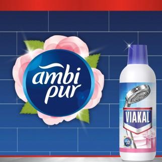 Viakal Liquido Fresco Profumo Anticalcare - 2 Flaconi da 700 ml