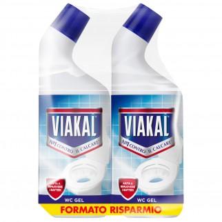 Viakal WC Gel Classico - 2 Flaconi da 750 ml