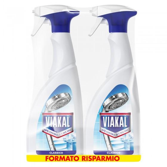 Viakal Spray Classico Anticalcare - 2 Flaconi da 700 ml