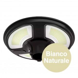 V-Tac VT-45W Lampione LED da Giardino con Pannello Solare 15W IP65 Sensore di Movimento e Crepuscolare - SKU 5150 / 5151