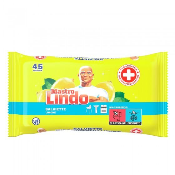 Mastro Lindo Salviette Limone Multisuperfici - Confezione da 45 Pezzi