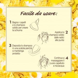 Garnier Ultra Dolce Shampoo Solido alla Camomilla e Olio di Calendula Biologico - Saponetta da 60g