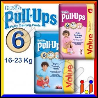 Huggies PullUps Pannolini Taglia 6 (16-23 kg) Box da 22 Mutandine