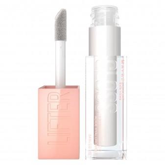 Maybelline New York Lifter Gloss Lucidalabbra con Acido Ialuronico Colore 001 Pearl