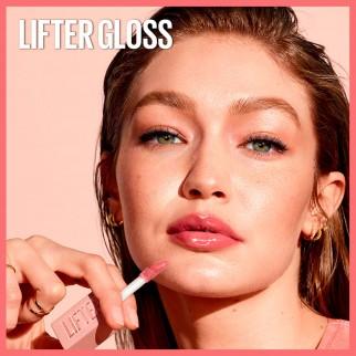 Maybelline New York Lifter Gloss Lucidalabbra con Acido Ialuronico Colore 007 Amber