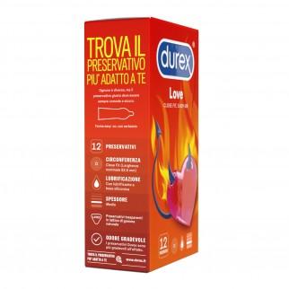 Preservativi Durex Love con Forma Easy-On - Confezione da 12 Profilattici