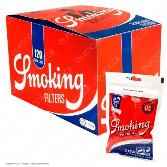 C00013007 - Smoking Slim Extra Lunghi 6mm - Box 30 Bustine da 120 Filtri